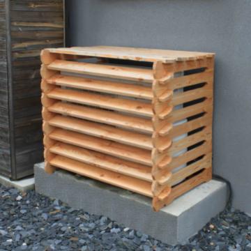 Cache climatiseur en bois