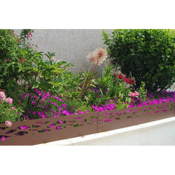 bordure de jardin en métal