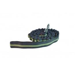 Laisse élastique noir et jaune fluo 1,50 m