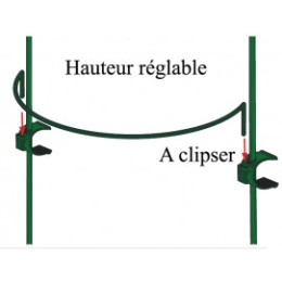 Tuteur 2 supports 1 m en demi-cercle diamètre 65 cm