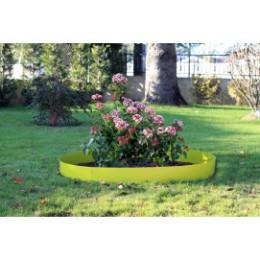 Bordure de jardin en acier vert anis H 15 cm