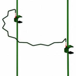 Tuteur 2 supports d'1 m en demi cercle festonné 80 cm