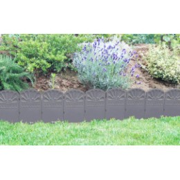 Bordure décorative de jardin gris anthracite
