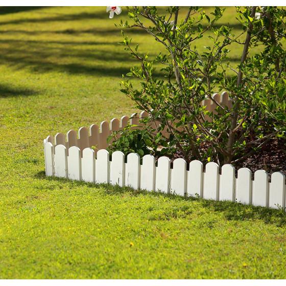 Bordurette de jardin ornementale blanc H 20 cm