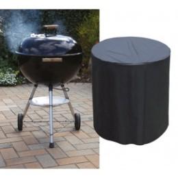 Housse de protection de barbecue ronde noire