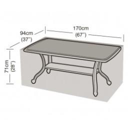 Housse de protection table rectangle noire