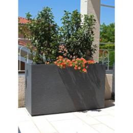 Bac à fleurs rectangulaire haut 116 litres