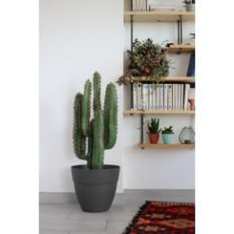 Pot de fleur gris anthracite rond 11,7 litres