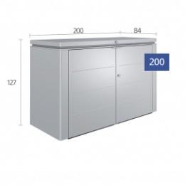 Coffre de rangement metal poubelle et vélo double porte 2150 L
