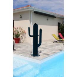 Cactus décoratif extérieur en acier 150 cm 3 bras bleu canard
