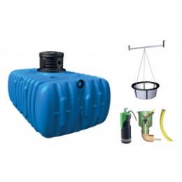 Cuve de récupération d'eau de pluie enterrée 3000 L avec pompe