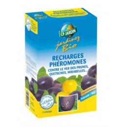 2 recharges piège à phéromone contre le vers des prunes
