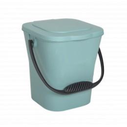 Seau à compost vert 6L avec couvercle et anse