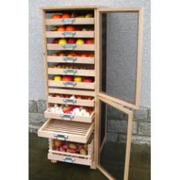 Meuble légumier fruitier vertical en bois 6 tiroirs